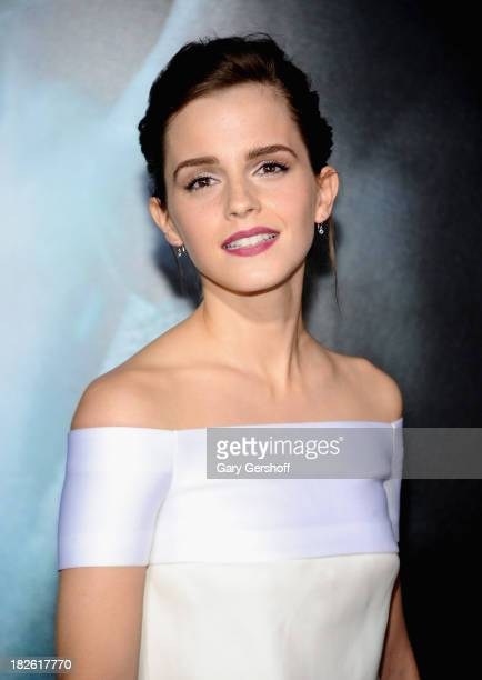 Actress Emma Watson attends the Gravity premiere at AMC Lincoln Square Theater on October 1 2013 in New York City