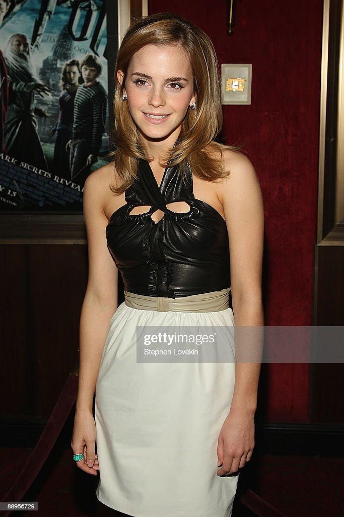 Actress Emma Watson attends the 'Harry Potter and the Half-Blood Prince' premiere at Ziegfeld Theatre on July 9, 2009 in New York City.