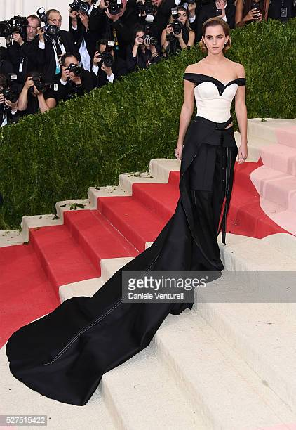 "Actress Emma Watson attends the ""Manus x Machina: Fashion In An Age Of Technology"" Costume Institute Gala at Metropolitan Museum of Art on May 2,..."