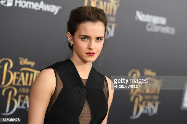Actress Emma Watson attends the New York special screening of Disney's live-action adaptation 'Beauty and the Beast' at Alice Tully Hall on March 13,...