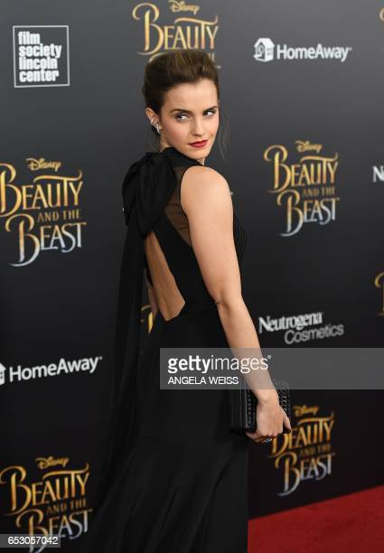 Actress Emma Watson attends the New York special screening of Disney's liveaction adaptation 'Beauty and the Beast' at Alice Tully Hall on March 13...