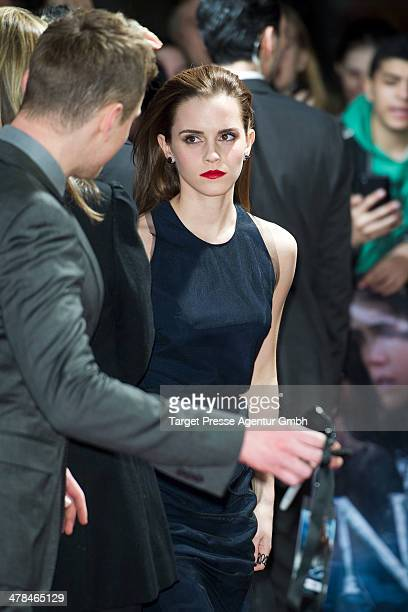 Actress Emma Watson attends the 'Noah' Germany Premiere at Zoo Palast on March 13 2014 in Berlin Germany