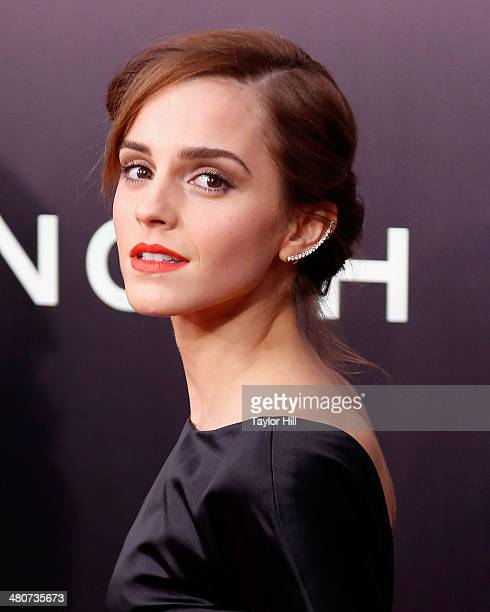 Actress Emma Watson attends the 'Noah' premiere at Ziegfeld Theatre on March 26 2014 in New York City
