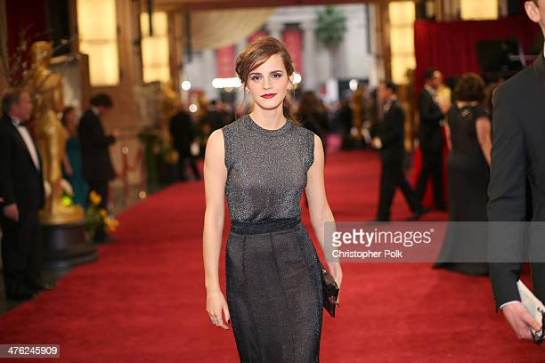 Actress Emma Watson attends the Oscars held at Hollywood & Highland Center on March 2, 2014 in Hollywood, California.