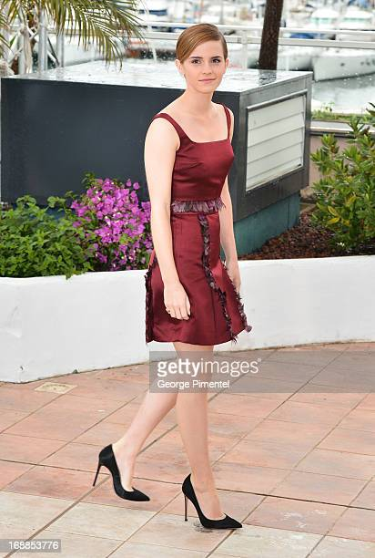 Actress Emma Watson attends the photocall for 'The Bling Ring' at The 66th Annual Cannes Film Festival on May 16 2013 in Cannes France