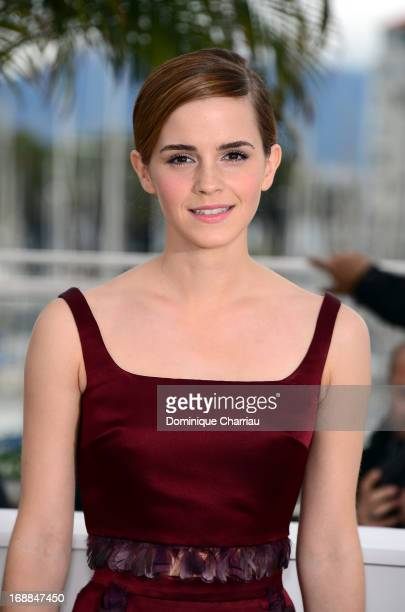 Actress Emma Watson attends the photocall for 'The Bling Ring' during the 66th Annual Cannes Film Festival at Palais des Festivals on May 16 2013 in...