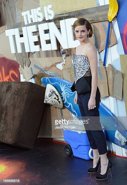 Actress Emma Watson attends the Premiere of Columbia Pictures' 'This Is The End' at Regency Village Theatre on June 3 2013 in Westwood California