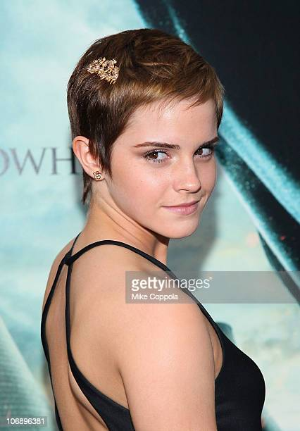 Actress Emma Watson attends the premiere of Harry Potter and the Deathly Hallows Part 1 at Alice Tully Hall on November 15 2010 in New York City