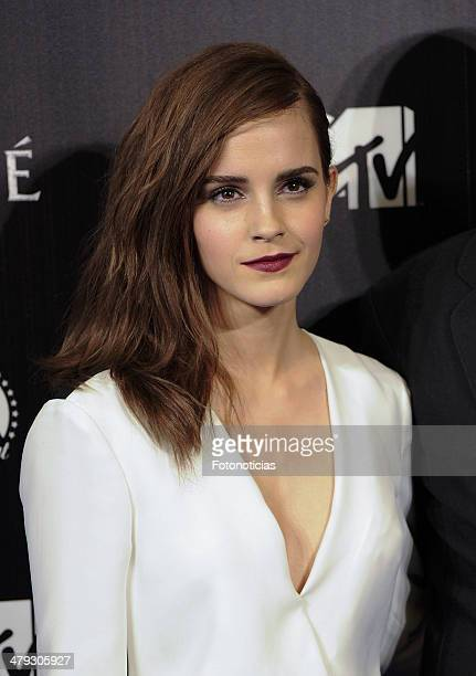 Actress Emma Watson attends the premiere of 'Noah' at Palafox Cinema on March 17 2014 in Madrid Spain