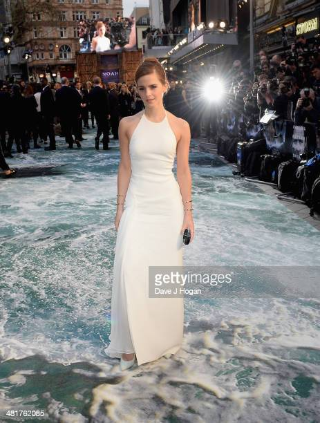 Actress Emma Watson attends the UK Premiere of Noah at the Odeon Leicester Square on March 31 2014 in London England