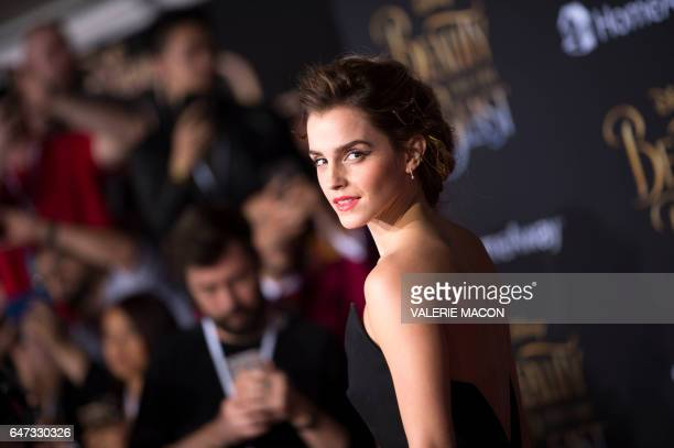 Actress Emma Watson attends the world premiere of Disney's Beauty and the Beast at El Capitan Theatre in Hollywood California on March 2 2017 / AFP...