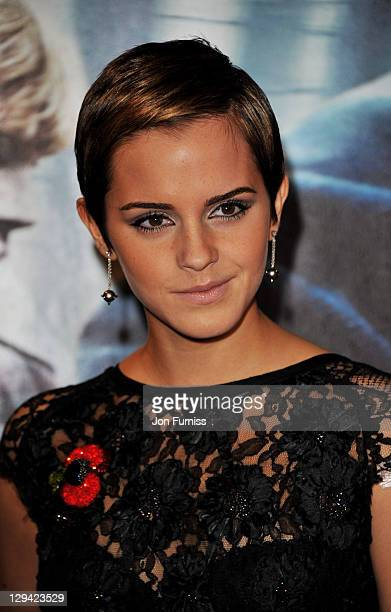 Actress Emma Watson attends the world premiere of Harry Potter and The Deathly Hallows at Odeon Leicester Square on November 11 2010 in London England