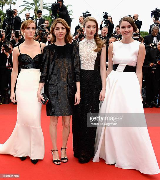 Actress Emma Watson director Sofia Coppola and actresses Taissa Fariga and Katie Chang attend 'The Bling Ring' premiere during The 66th Annual Cannes...