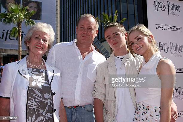 Actress Emma Watson her brother Alex Watson and family arrive at the US Premiere of Warner Bros Harry Potter And The Order Of The Phoenix held at the...