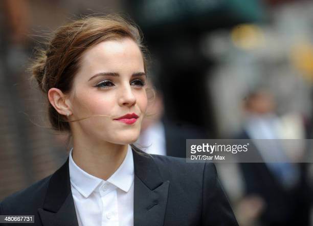 Actress Emma Watson is seen on March 25 2014 in New York City