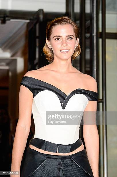 Actress Emma Watson leaves the Mark Hotel on May 2 2016 in New York City