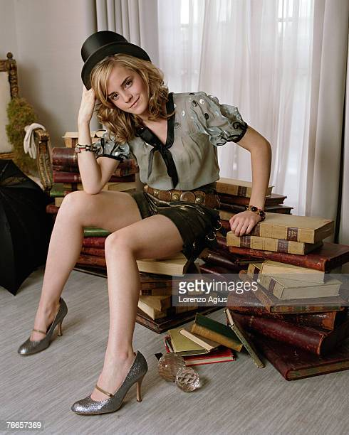 Actress Emma Watson poses for a portrait shoot in London for Parade magazine 8th July 2007