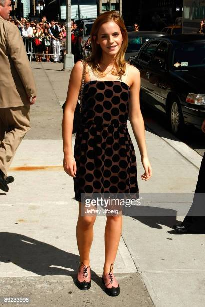 Actress Emma Watson visits 'Late Show with David Letterman' at the Ed Sullivan Theater on July 8 2009 in New York City