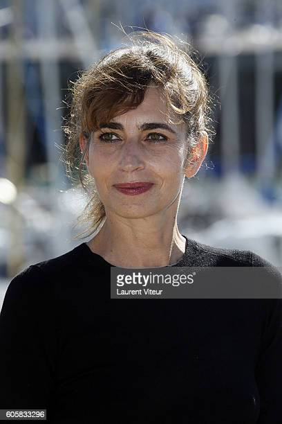 Actress Emmanuelle Bach attends the 'Les Hommes de l'Ombre' Photocall during the 18th Festival of TV Fiction on September 15 2016 in La Rochelle...