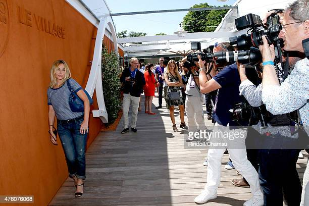 Actress Emmanuelle Beart attends the 2015 Roland Garros French Tennis Open - Day Fourteen, on June 6, 2015 in Paris, France.