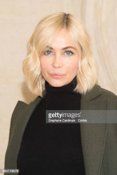 Actress Emmanuelle Beart attends the Christian Dior show as part of the Paris Fashion Week Womenswear Spring/Summer 2018 at on September 26 2017 in...