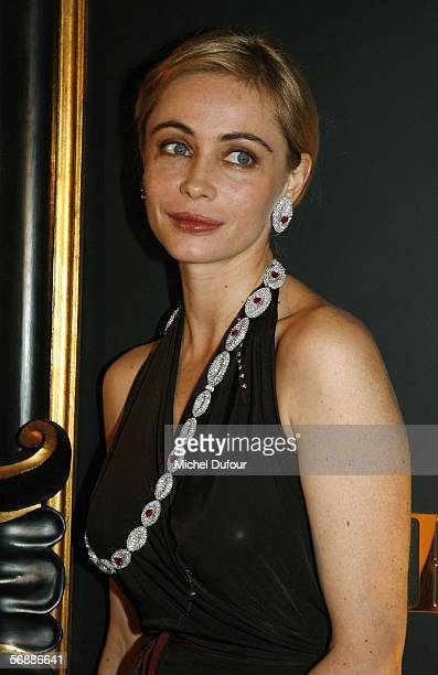 Actress Emmanuelle Beart attends the De Grisogono high jewellery party at the Palace Hotel on February 18 2006 in Gstaad Switzerland