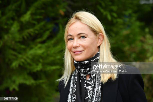 """Actress Emmanuelle Beart attends the """"L'Etreinte"""" Photocall at 13th Angouleme French-Speaking Film Festival on August 30, 2020 in Angouleme, France."""