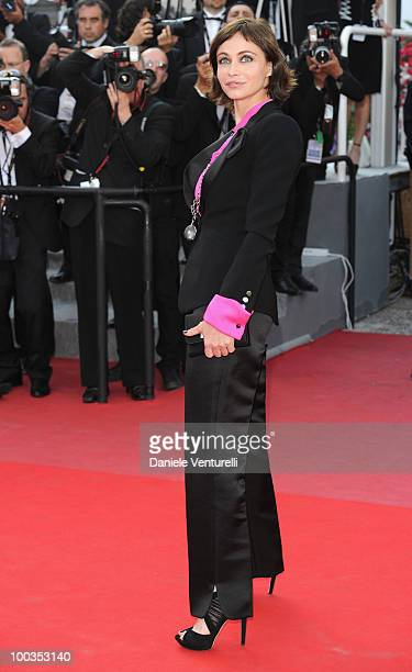 Actress Emmanuelle Beart attends the Palme d'Or Closing Ceremony held at the Palais des Festivals during the 63rd Annual International Cannes Film...