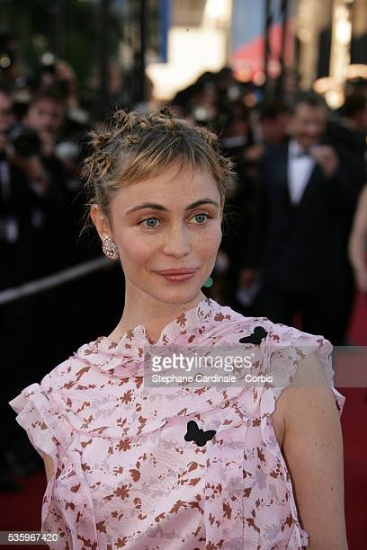 Actress Emmanuelle Beart attends the premiere of Peindre ou Faire l'Amour in competition at the 58th Cannes Film Festival