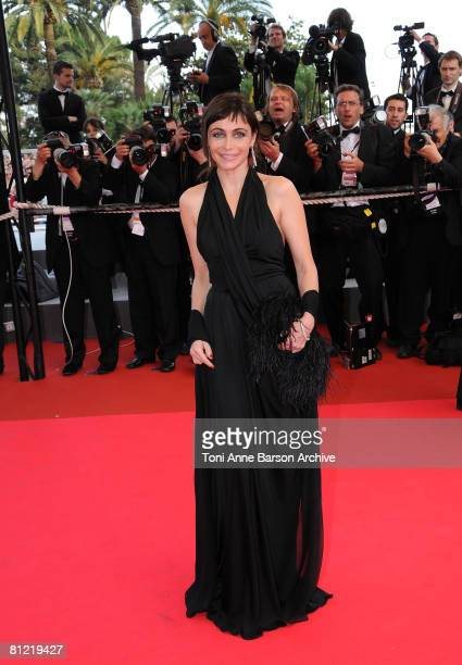Actress Emmanuelle Beart attends the 'Synecdoche New York' premiere at the Palais des Festivals during the 61st International Cannes Film Festival on...