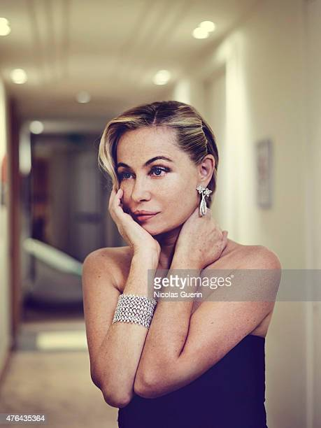 Actress Emmanuelle Beart is photographed for Self Assignment on May 15 2015 in Cannes France