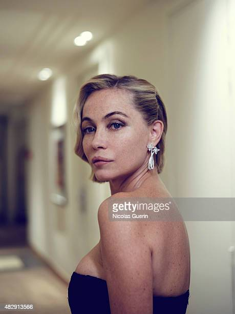Actress Emmanuelle Beart is photographed on May 15 2015 in Cannes France