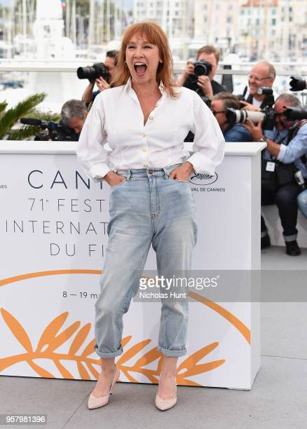 Actress Emmanuelle Bercot attends the photocall for Girls Of The Sun during the 71st annual Cannes Film Festival at Palais des Festivals on May 13...