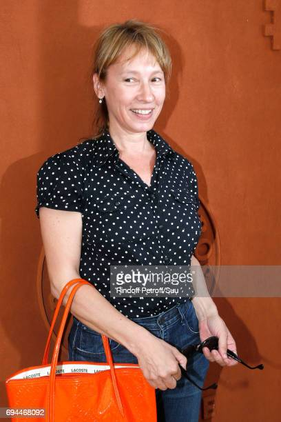 Actress Emmanuelle Bercot attends the Women Final of the 2017 French Tennis Open - Day Fourteen at Roland Garros on June 10, 2017 in Paris, France.