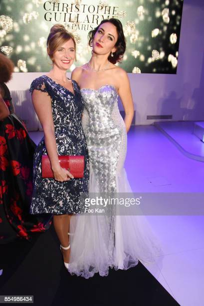Actress Emmanuelle Boidron and Delphine Wespiser attend the Christophe Guillarme Show as part of the Paris Fashion Week Womenswear Spring/Summer 2018...