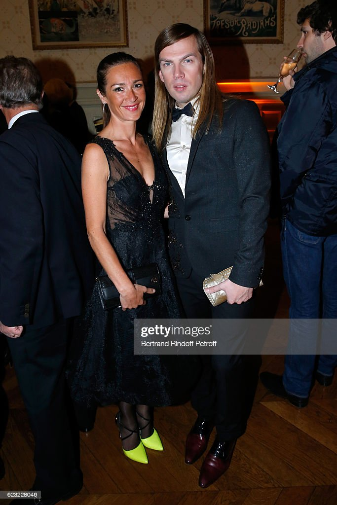 Actress Emmanuelle Boidron and stylist Christophe Guillarme attend the 24th 'Gala de l'Espoir' at Theatre du Chatelet on November 14, 2016 in Paris, France.