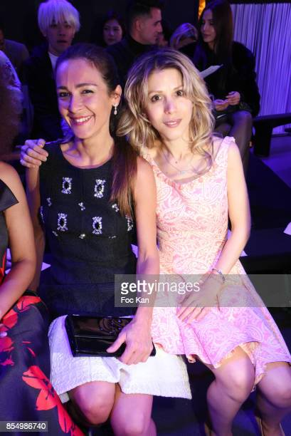 Actress Emmanuelle Boidron and writer Tristane Banon attend the Christophe Guillarme Show as part of the Paris Fashion Week Womenswear Spring/Summer...
