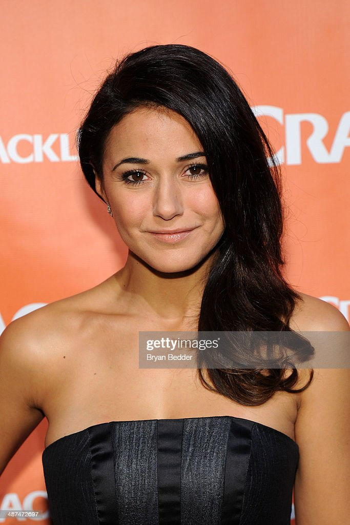 Actress Emmanuelle Chiriqui attends the Crackle NewFronts at Cedar Lake Studios on April 30, 2014 in New York City.