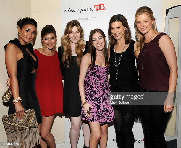 Actress Emmanuelle Chriqui actress JamieLynn Sigler Alexx LevinMonkarsh Bari MilkenBernstein actress Perrey Reeves and actress Amy Smart attend the...