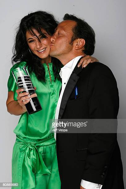 Actress Emmanuelle Chriqui and actor Rob Schneider pose for their portrait at Hollywood Life Magazine?s 10th Annual Young Hollywood Awards at the...