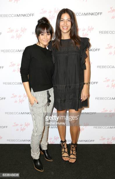 "Actress Emmanuelle Chriqui and designer Rebecca Minkoff attended designer Rebecca Minkoff's Spring 2017 ""See Now Buy Now"" Fashion Show at The Grove..."
