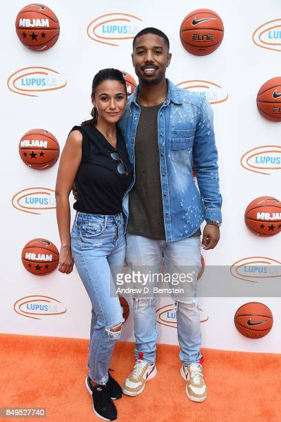 Actress Emmanuelle Chriqui and Michael B Jordan attend his Jam event at The RitzCarlton Marina del Rey on September 16 2017 in Marina del Rey...