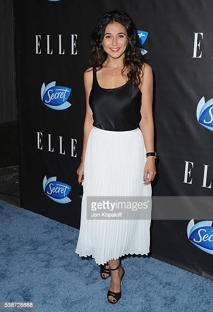 Actress Emmanuelle Chriqui arrives at ELLE Hosts Women In Comedy Event With July Cover Stars Leslie Jones Melissa McCarthy Kate McKinnon And Kristen...
