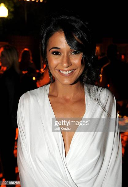 Actress Emmanuelle Chriqui arrives at HBO's Entourage Season 7 premiere after party held at Paramount Theater on the Paramount Studios lot on June 16...