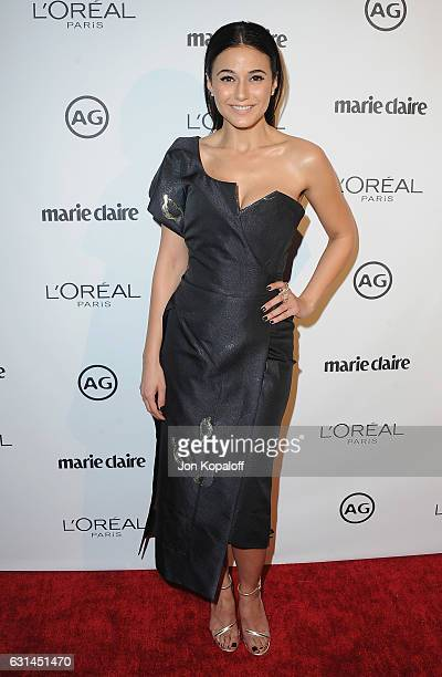 Actress Emmanuelle Chriqui arrives at Marie Claire's Image Maker Awards 2017 at Catch LA on January 10 2017 in West Hollywood California