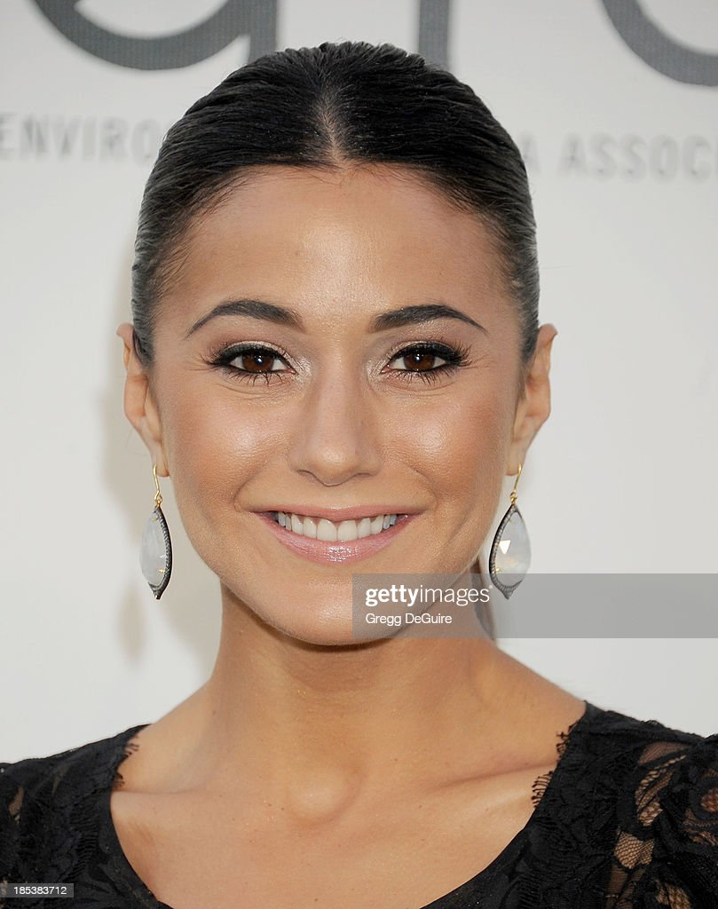 Actress Emmanuelle Chriqui arrives at the 2013 Environmental Media Awards at Warner Bros. Studios on October 19, 2013 in Burbank, California.