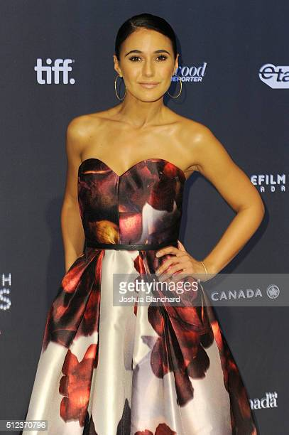Actress Emmanuelle Chriqui arrives at the 3rd Annual 'An Evening With Canada's Stars' at the Four Seasons Hotel Los Angeles at Beverly Hills on...