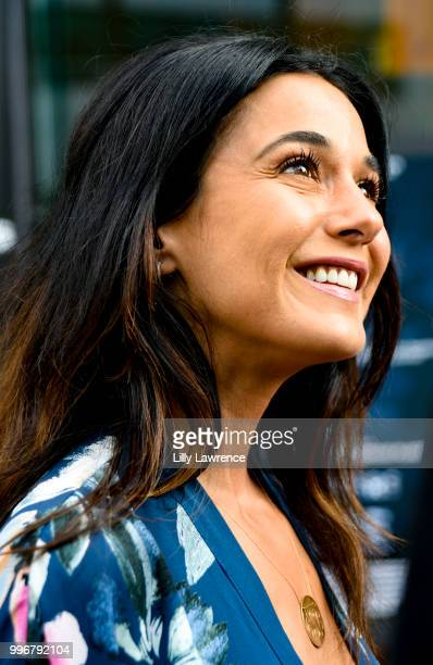 Actress Emmanuelle Chriqui arrives at the '7 Splinters In Time' Premiere at Laemmle Music Hall on July 11 2018 in Beverly Hills California