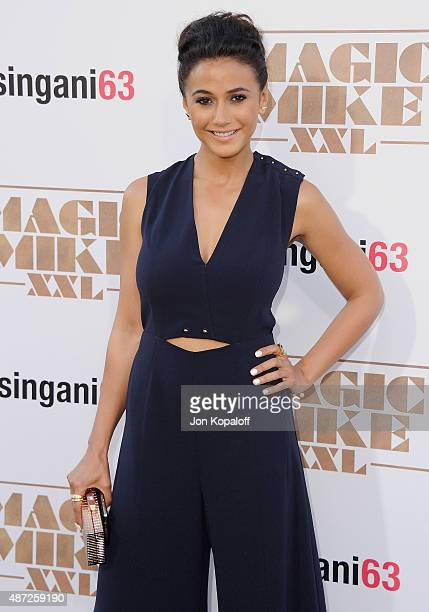 Actress Emmanuelle Chriqui arrives at the Los Angeles Premiere 'Magic Mike XXL' at TCL Chinese Theatre IMAX on June 25 2015 in Hollywood California