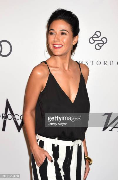 Actress Emmanuelle Chriqui arrives at the Variety's Power Of Women Los Angeles at the Beverly Wilshire Four Seasons Hotel on October 13 2017 in...
